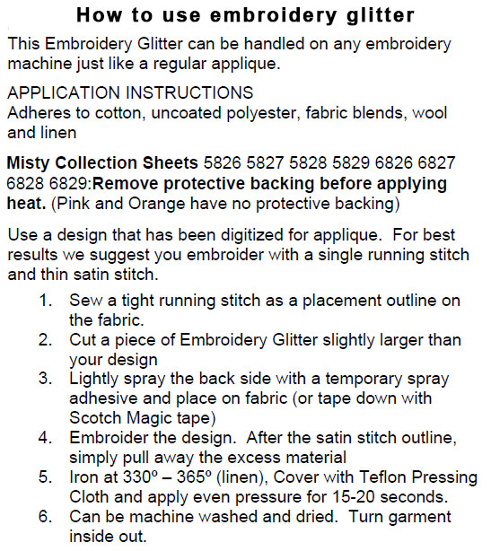 how to use embroidery glitter