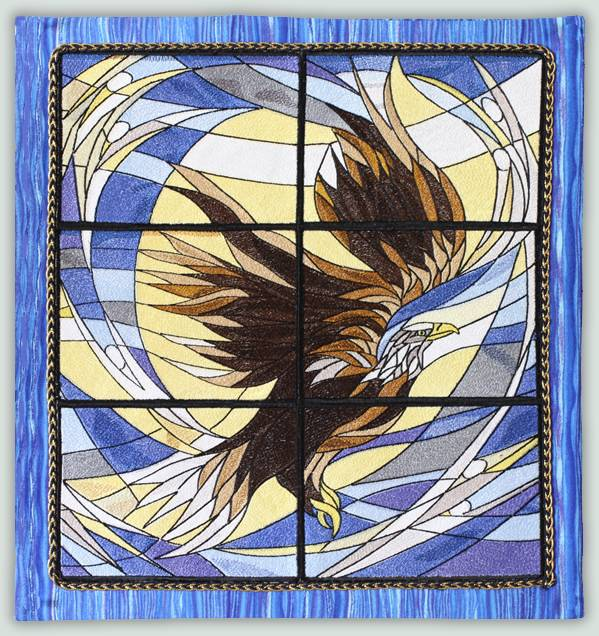 25 Modern Ideas To Use Stained Glass Designs For Home: BFC1106 Stained Glass-Eagle