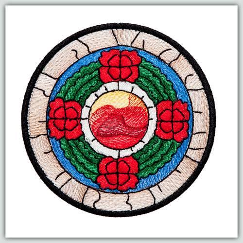 Bfc1243 waratah rose window for Rose window design