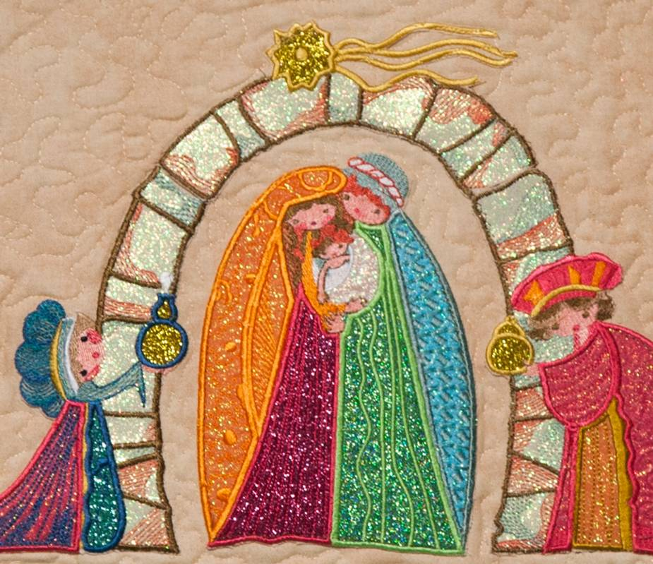 Bfc1394 Folk Art Nativity Applique