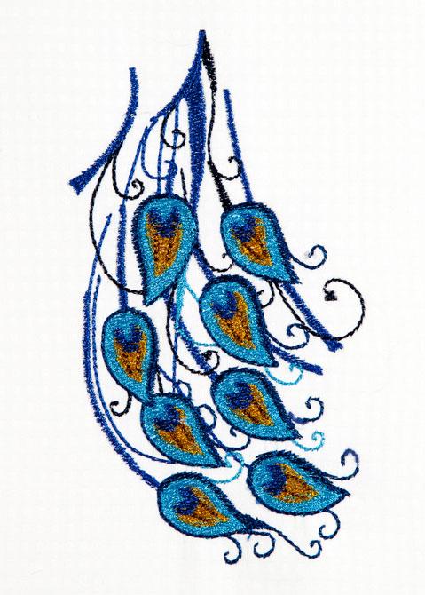 Bfc large decorative peacock