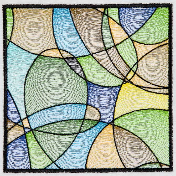 Bfc1543 Stained Glass Quilt Squares Abstract Patterns