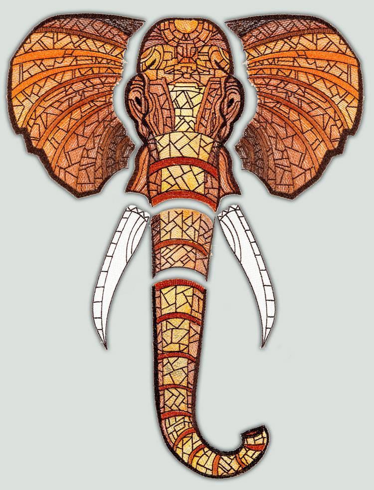 Bfc large decorative bronze elephant