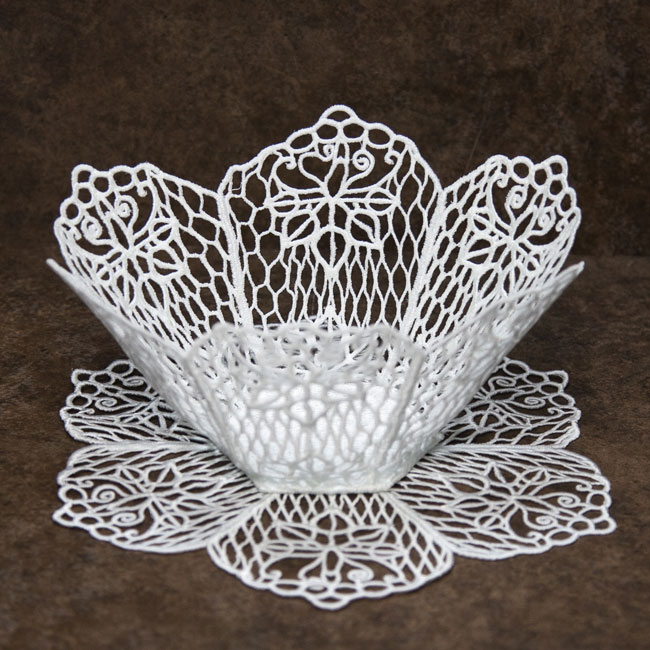 Bfc fsl lace bowl doily with flowers