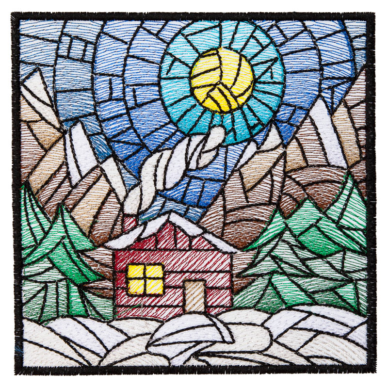 Bfc1632 Stained Glass Quilt Squares Winter