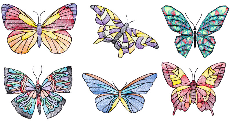 Bfc1642 stained glass butterflies for Butterfly stained glass craft
