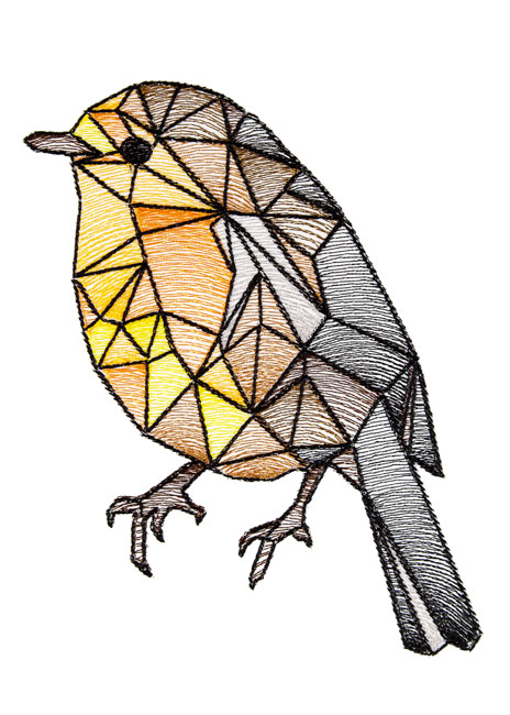 BFC1674 Stained Glass Birds