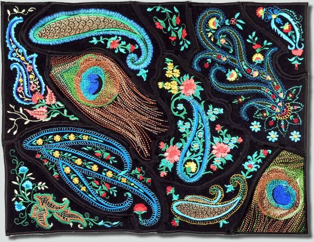 Bfc0756 Qih Peacock Paisley Bag