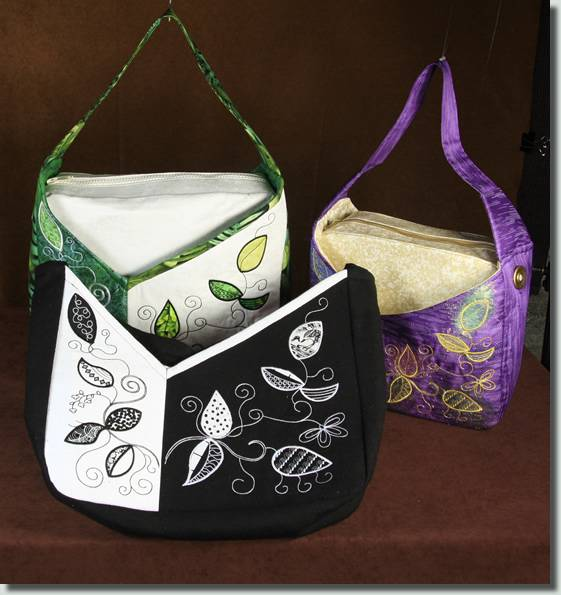 BFC0855 Convertible Handbag Series A Appliqué Leaves