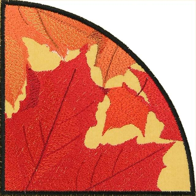 Bfc0885 Qih Autumn Leaves In The Round Times Two