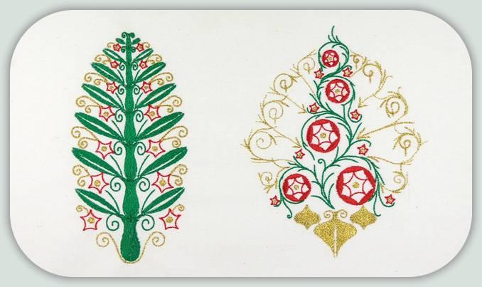 Art Nouveau Christmas Trees