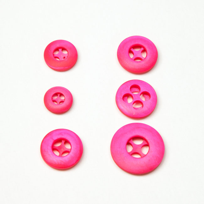 Vintage Acrylic Buttons - Hot Pink