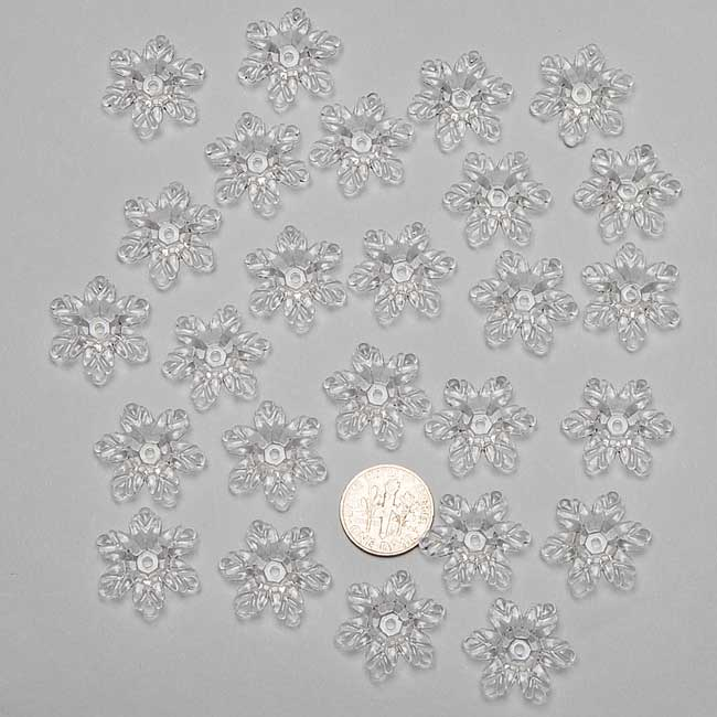 Clear Frosted Acrylic Flowers 21x19mm