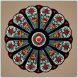 BFC1243 Waratah Rose Window