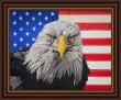 BFC1463 Large Eagle with American Flag