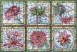 BFC1484 Stained Glass Floral Squares II Thread Kit