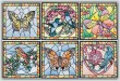 BFC1494 Stained Glass Squares-Birds & Butterflies Thread Kit