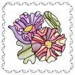 BFC1742 Stained Glass Floral Blocks - 04