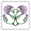 BFC1742 Stained Glass Floral Blocks - 06
