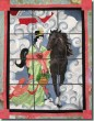 BFC0446 Stained Glass Chinese Lady and the Horse