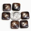 Vintage Acrylic Buttons- Brown Agate