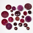 Vintage Acrylic Buttons - Purplish Reds Mixed