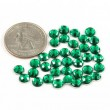 Acrylic Crystals, Green, 6mm, 35 pcs