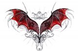 Dragon Wings of Red and Black