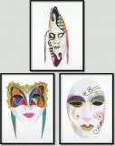 BFC1030 Three Dance Masks IV
