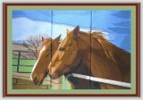 BFC1083 Window-Companionship-Two Horses