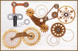 BFC1538 Steampunk Gears and Gizmos