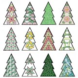 BFC1618 Patchwork Christmas Trees