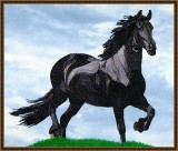 BFC1652 Large Friesian Horse