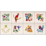 BFC1683 Colorful Ethnic Birds