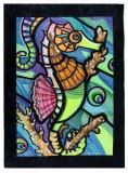 BFC1685 Ching Chou's Stained Glass Seahorse
