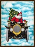 BFC1686 Large Santa in a Car (Late for Work)