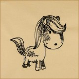 BFC1693 Sketchy Pals - Blackwork  Version - Pony