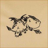 BFC1693 Sketchy Pals - Blackwork  Version - Dragon