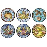 BFC1694 Stained Glass Autumn Quilt Circles