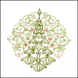 BFC1709 Art Nouveau Floral Quilt Blocks - 02