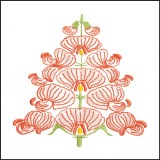 BFC1709 Art Nouveau Floral Quilt Blocks - 04