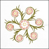 BFC1709 Art Nouveau Floral Quilt Blocks - 07