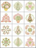 BFC1709 Art Nouveau Floral Quilt Blocks