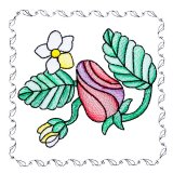 BFC1742 Stained Glass Floral Blocks - 01