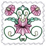 BFC1742 Stained Glass Floral Blocks - 05