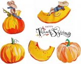 BFC1855 The Mouse and Pumpkin Thanksgiving