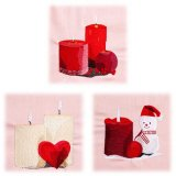 BFC1864 Three Christmas Candles Fun Set