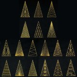 BFC1878 Golden Christmas Trees