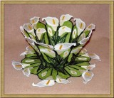 BFC0308  Lace Bowl & Doily  Calla Lily