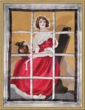 BFC0472 Window - Lady in Red